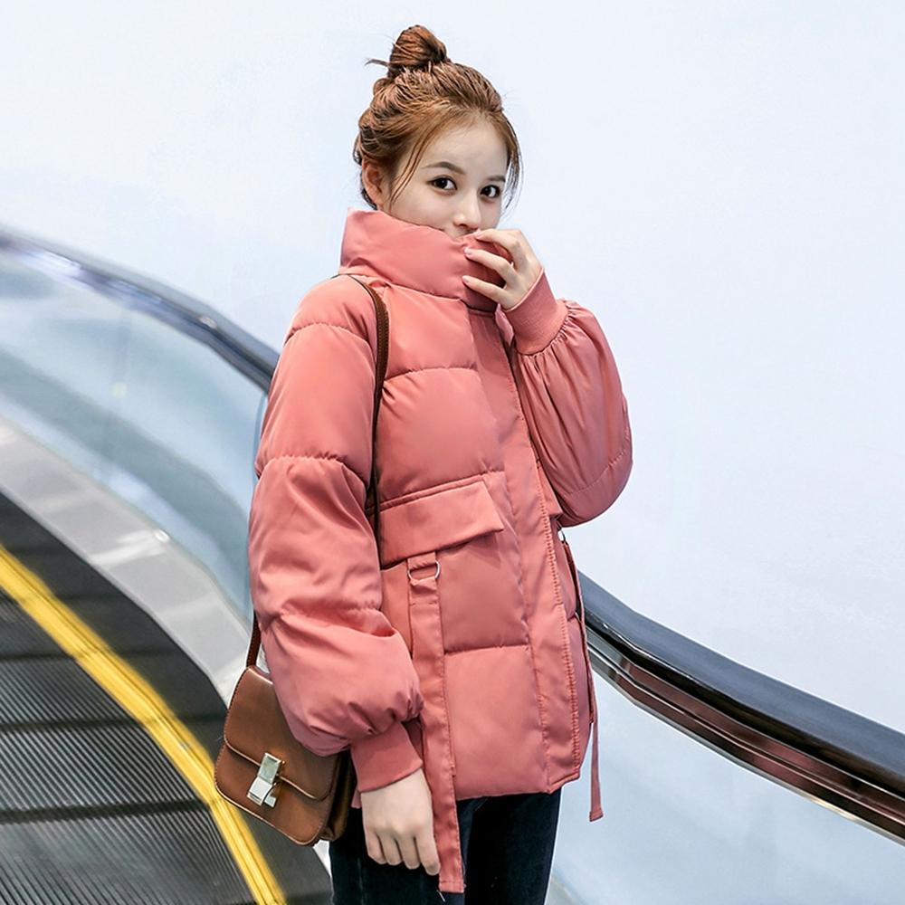 簡約立領帥氣保暖休閒外套S-2XL(共五色)-WHATDAY (粉色)
