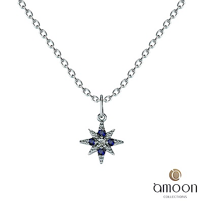 amoon 璀璨彩寶系列 吉星高照 10K金鑽石墜子 送18K金純銀項鍊