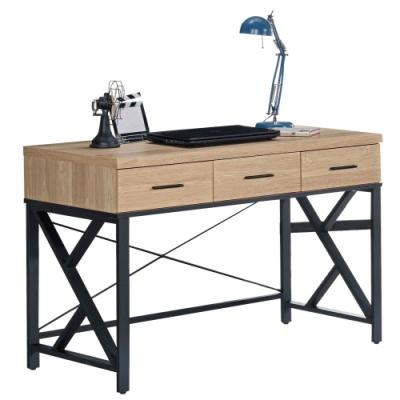 文創集 卡多隆工業風4尺美型書桌/電腦桌(二色可選)-120x59x82cm免組