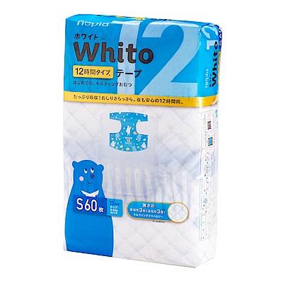 Nepia Whito王子白色系列黏貼紙尿褲 日本境內十二小時版 S 60片/包