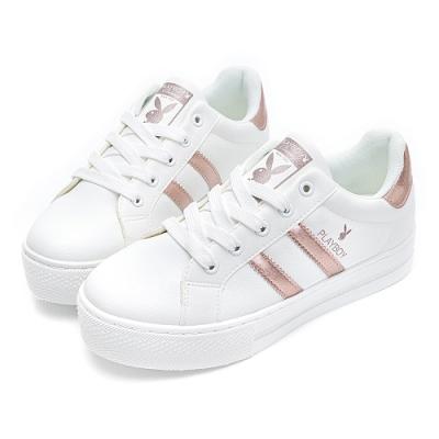 PLAYBOY彈性厚底小白鞋-玫瑰金-Y62171H