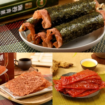 喜福田  吉利禮盒(肉紙+肉乾 3盒入/組)