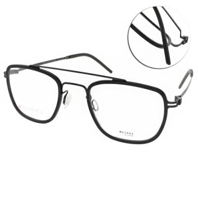 VYCOZ眼鏡 DURRA系列 薄鋼 復古雙槓飛官款 /黑 #DR9201 BLK-B