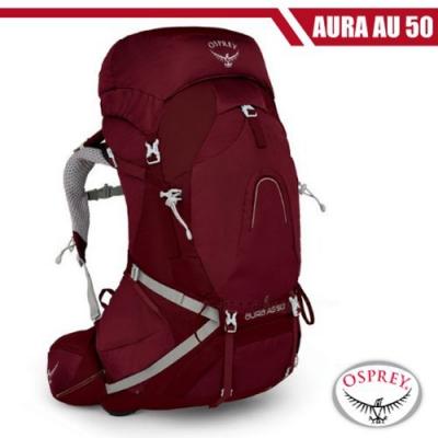 OSPREY 女新款 Aura AG 50 專業網架輕量登山背包S_輻射紅 R