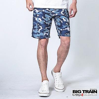 BIG TRAIN 加大款-全地域街頭短褲-男-藍迷彩
