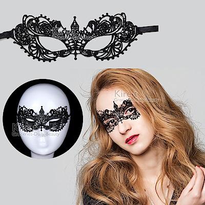 派對/化妝舞會面具 蕾絲眼罩面罩 鏤空後綁帶式-格雷女伶款 kiret