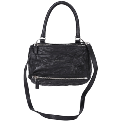 [5折破盤殺 專櫃價59000]GIVENCHY Pandora 鞣製羊皮手提/斜背包(黑 小款)