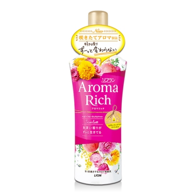 日本 Aroma Rich 衣物香氛柔軟精 520ml-桃色Scarlett