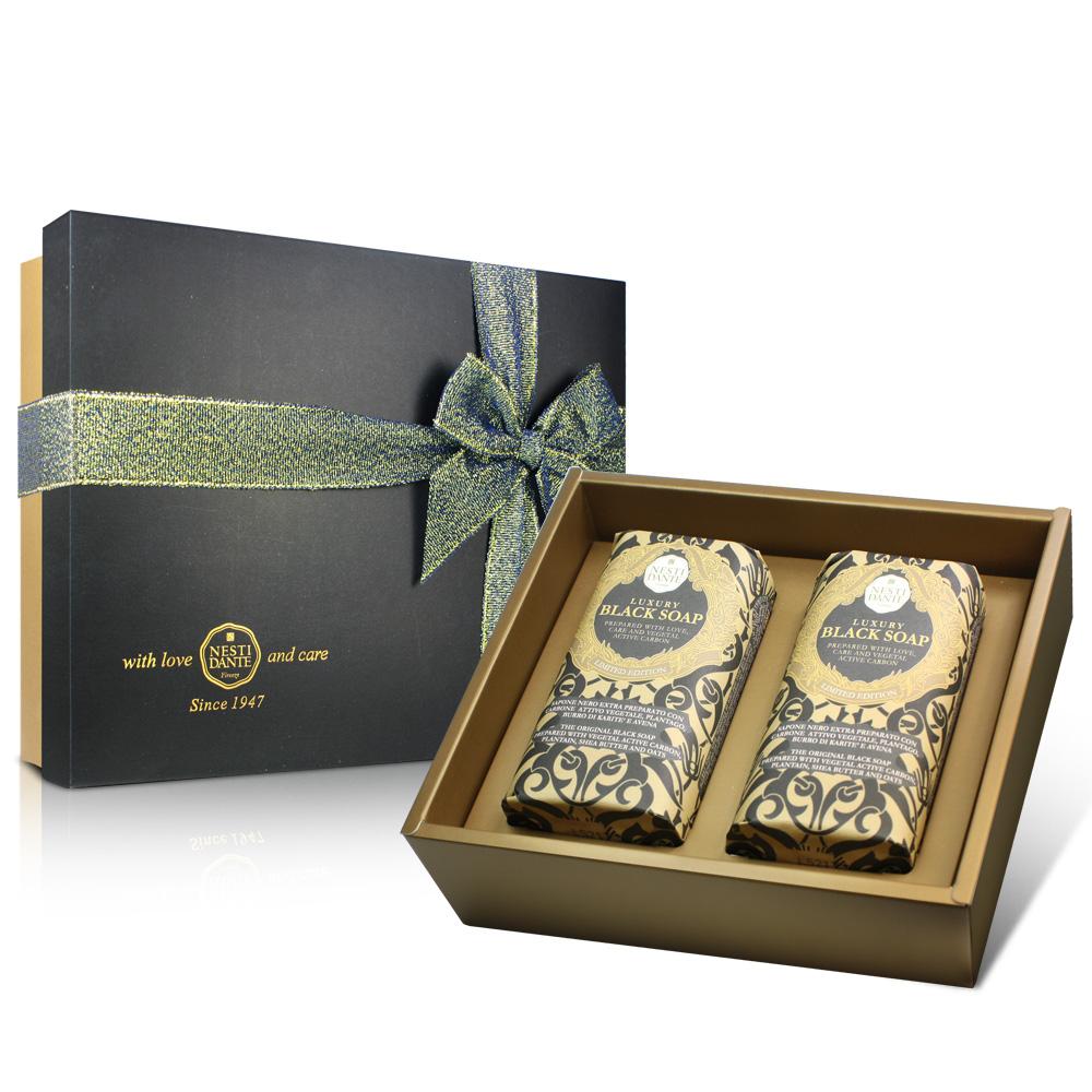 Nesti Dante 義大利手工皂-尊寵黑金淨化皂禮盒(250g×2入)