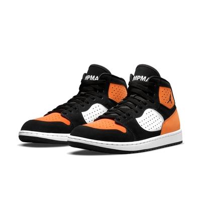 Nike 休閒鞋 Jordan Access 運動 男鞋 喬丹 高筒 皮革 質感 球鞋 穿搭 黑 橘 AR3762-008