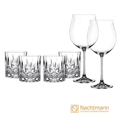 【Nachtmann】貴族威士忌杯8.4CM+紅酒杯(6入組)