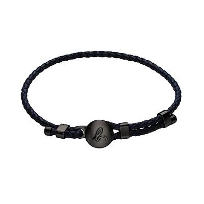 agnes b. b.logo男性皮繩手環