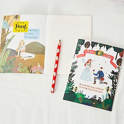 7321 Design 純真童話條紋筆記本-羅密歐與茱麗葉