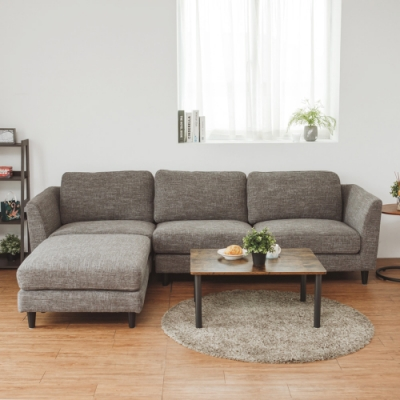 完美主義 簡約日系L型沙發/布沙發/貴妃椅(2色)-DIY