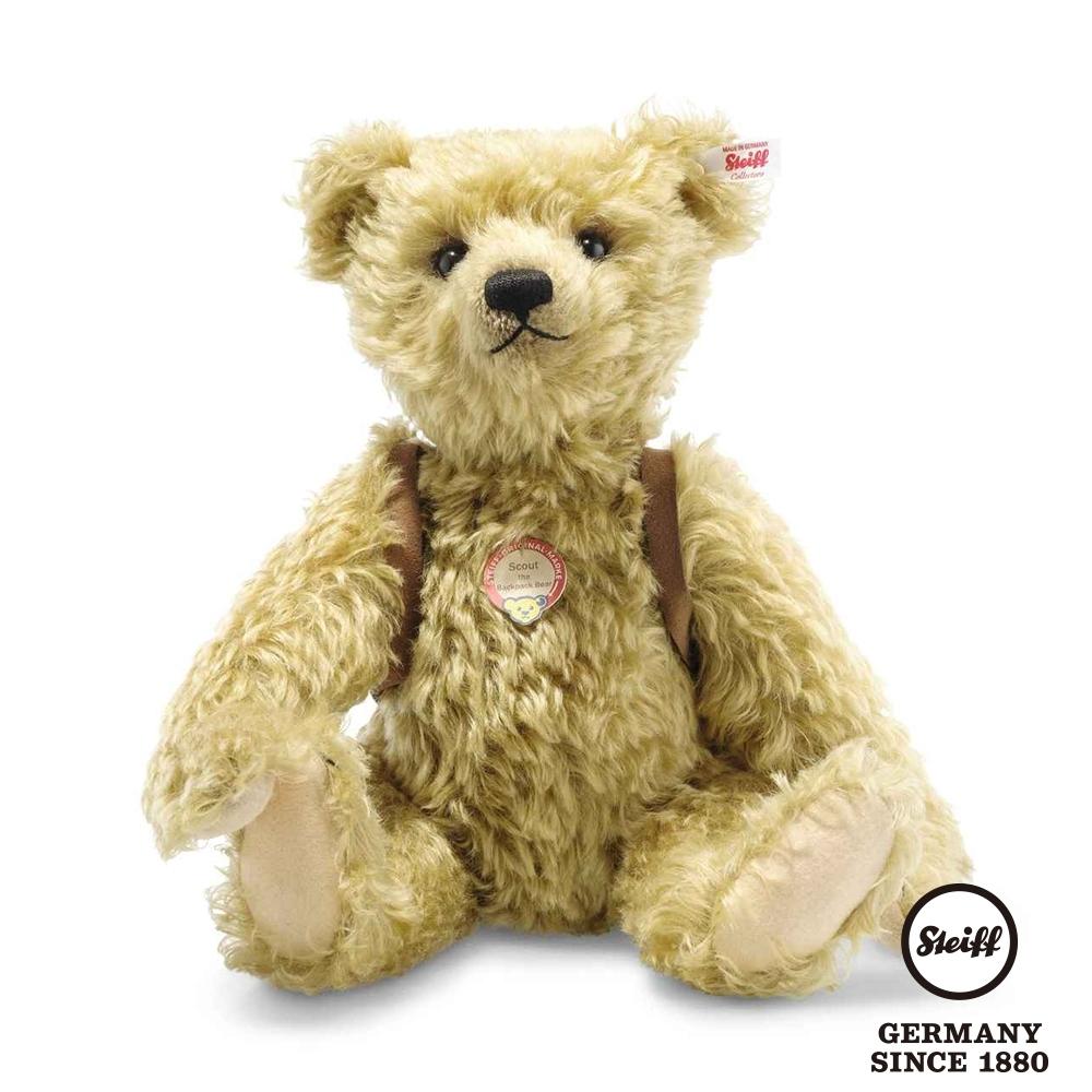 STEIFF德國金耳釦泰迪熊 Scout the Backpack Bear  偵查兵泰迪熊 (海外限量版)