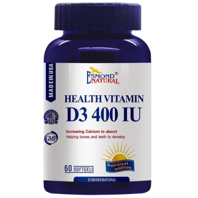 愛司盟 健康維生素D3 400IU軟膠囊 (60顆/ 瓶)