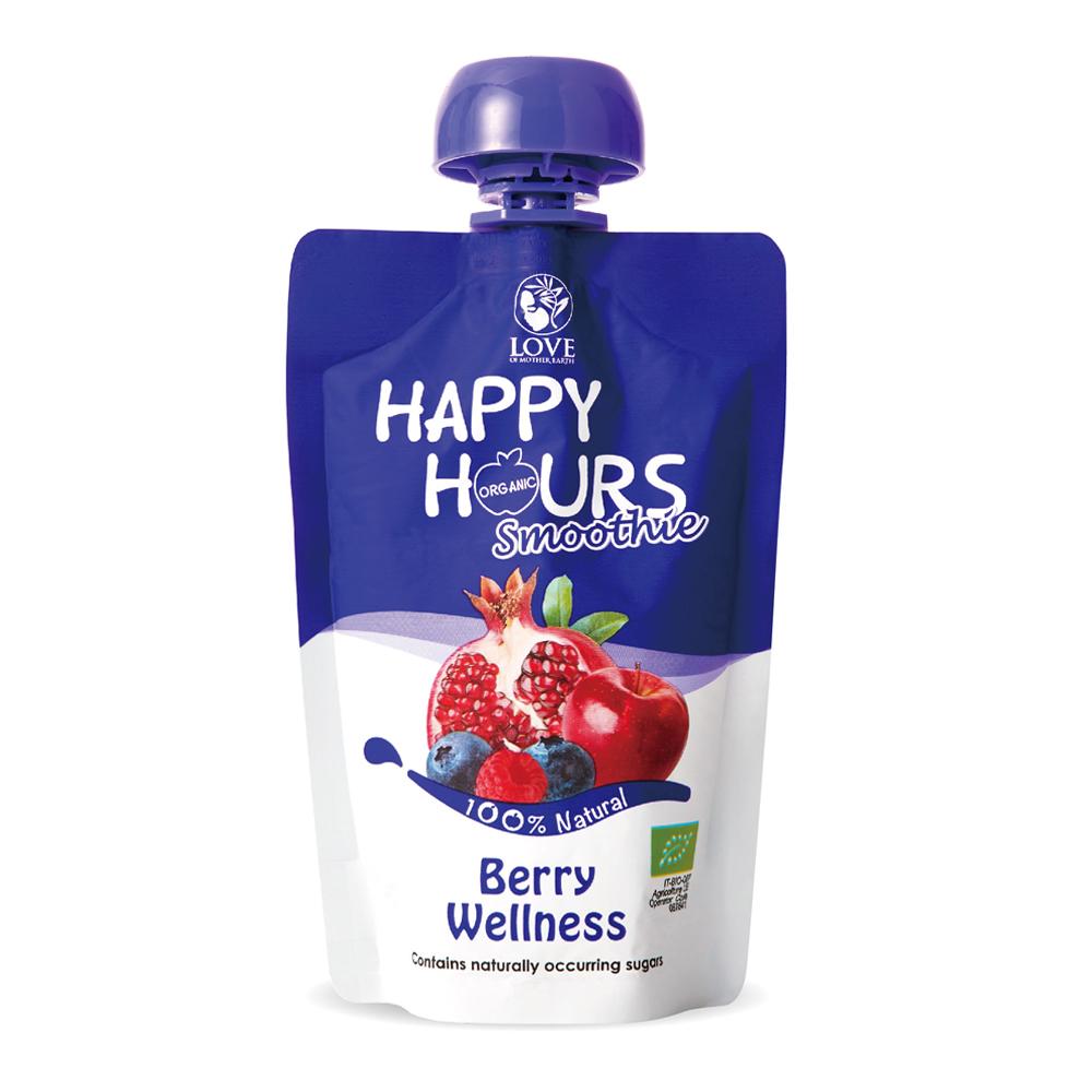 Happy Hour 佑爾康金貝親有機纖果飲(蘋果/ 紅石榴/ 覆盆莓/ 藍莓)18包