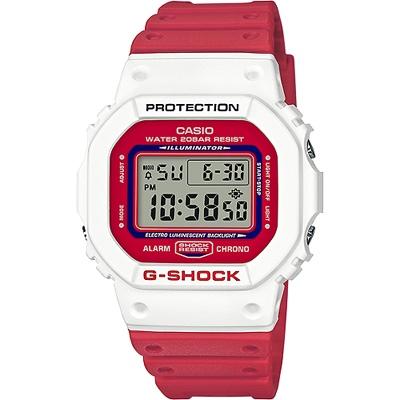 G-SHOCK 復刻街頭文化精神數位錶-紅X白(DW-5600TB-4A)/42mm