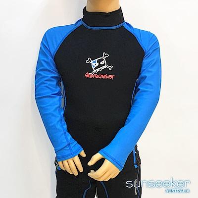 澳洲Sunseeker泳裝男童長袖專業衝浪潛水防寒衣-上衣