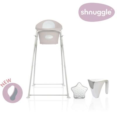 【英國Shnuggle】月亮澡盆四件組-月亮澡盆2021+專用架U2+小小水瓢+星光洗澡玩具