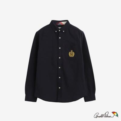 Arnold-Palmer-男裝-刺繡LOGO牛津襯衫-黑