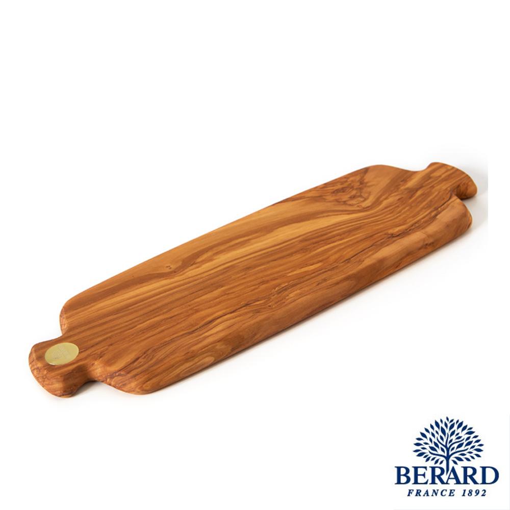 法國Berard畢昂 Racine-手工橄欖木雙握耳長方砧板42x14x1,7cm