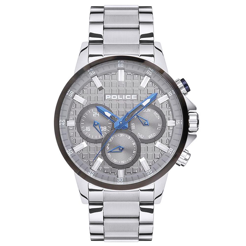 POLICE 王者風範三眼時尚手錶-灰X銀/47mm @ Y!購物