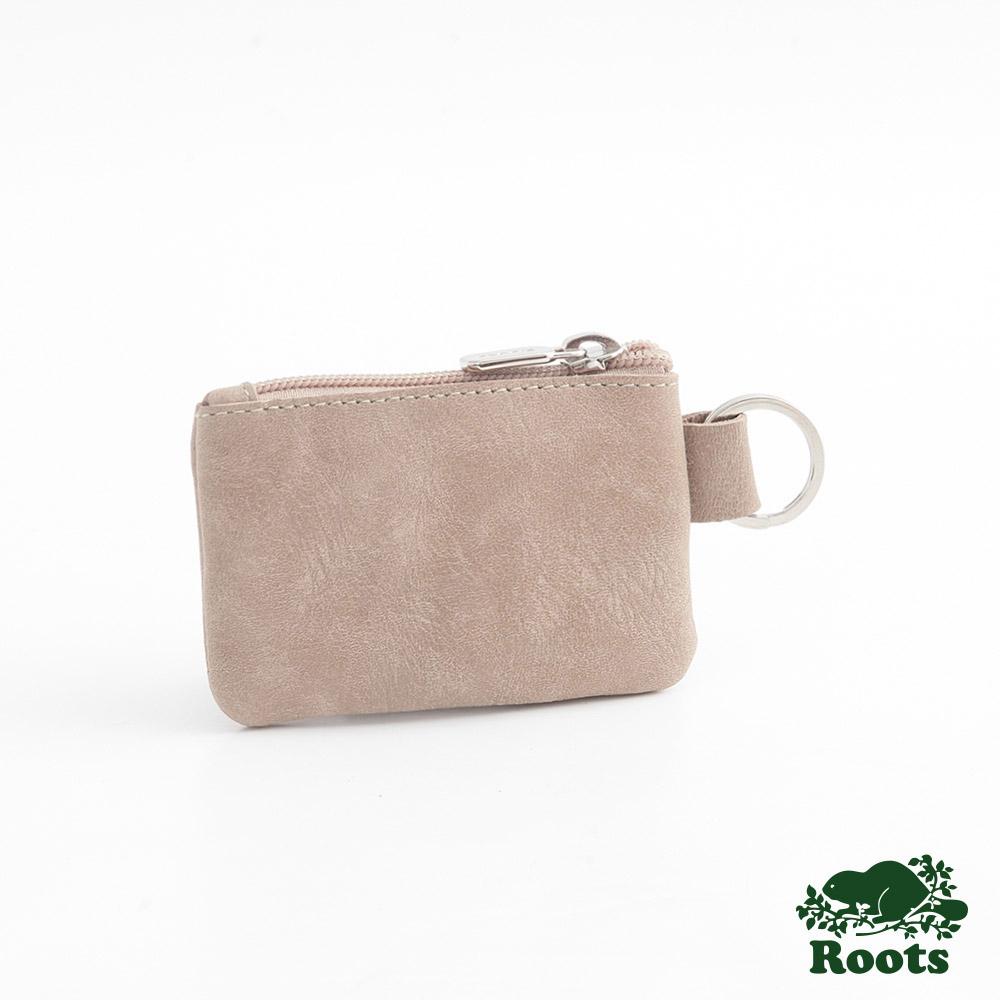 Roots-配件-鑰匙圈小零錢包-棕