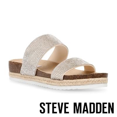 STEVE MADDEN-DALI-R 水鑽雙帶涼拖鞋-銀色