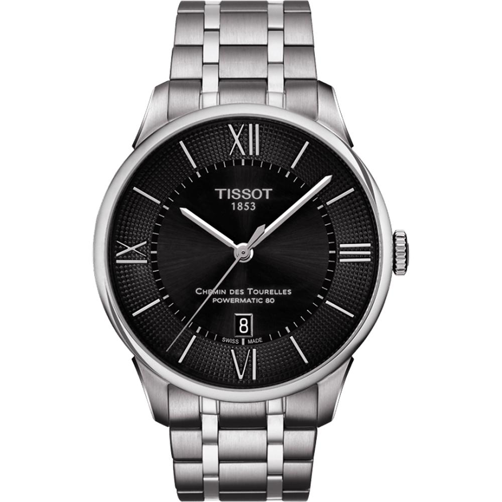 TISSOT天梭 杜魯爾系列機械動力80手錶-黑/42mm T0994071105800