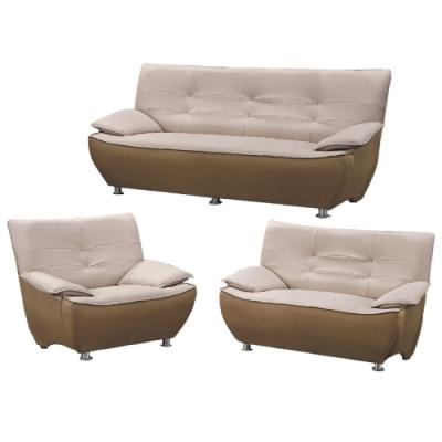 文創集 麥隆 雙色貓抓皮革獨立筒沙發組合(1+2+3人座組合)-220x94x76cm免組
