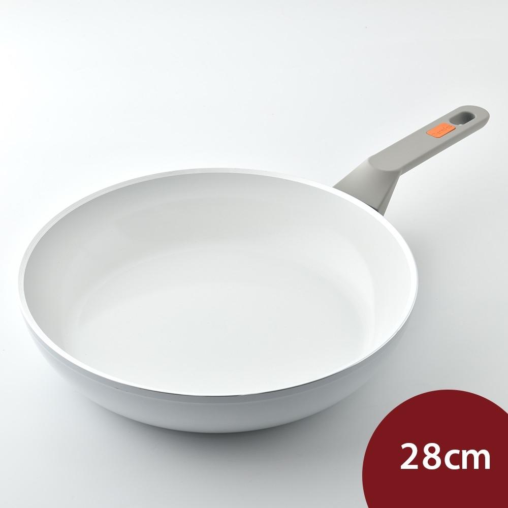 德國Berndes寶迪 Veggie White 白色陶瓷不沾深鍋 28cm 電磁爐可用