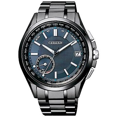 CITIZEN 星辰 衛星對時鈦金屬男錶(CC3015-57L) 黑x藍/43mm