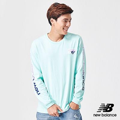 New Balance 長袖T恤_AMT91545LRF_男性_藍色