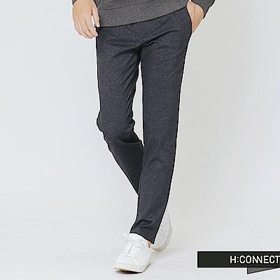 H:CONNECT 韓國品牌 男裝-側鬆緊混織長褲-藍(快)