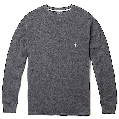 Polo Rlaph Lauren 經典刺繡小馬針織棉質毛衣-深灰色