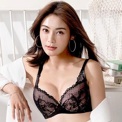 莎薇 EFG+大罩杯 D-F罩杯內衣(薇性感黑) 強大安定 防止副乳 完整包覆