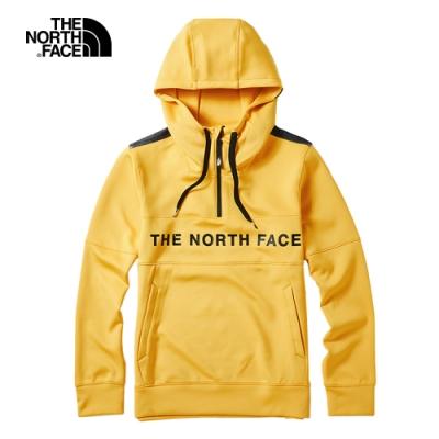The North Face北面男款黃色舒適柔軟針織上衣 46HCK02
