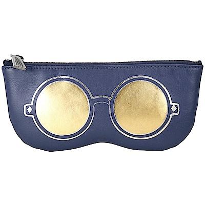 Rebecca Minkoff Mirrored Sunnies 眼鏡造型萬用包(深藍色)