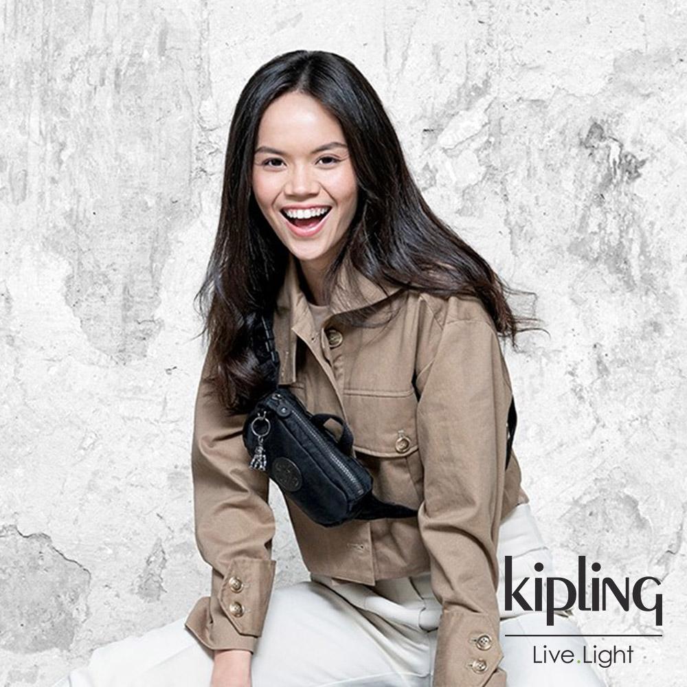 Kipling 極致低調黑雙層側腰包-ALYS