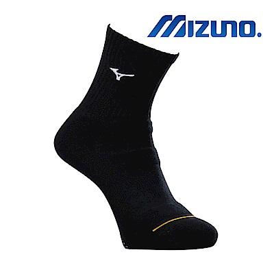 MIZUNO 男運動厚底襪(加大尺寸) 5入 黑X白 32TX900491