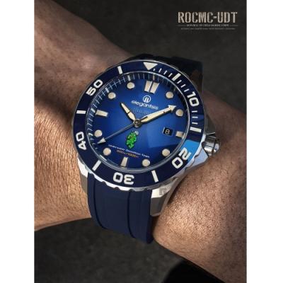 elegantsis  海軍陸戰隊水中爆破中隊 漸層藍限量機械腕錶 套組 ELJX65AS-ROCMC-UDT