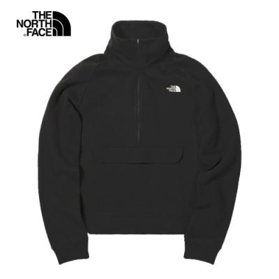 The North Face北面UE女款黑色半開襟立領長袖上衣|4UA5JK3