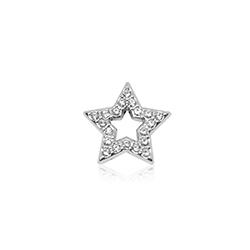 HOURRAE 閃耀光芒 鏤空鑽星 優雅銀色系列 小飾品