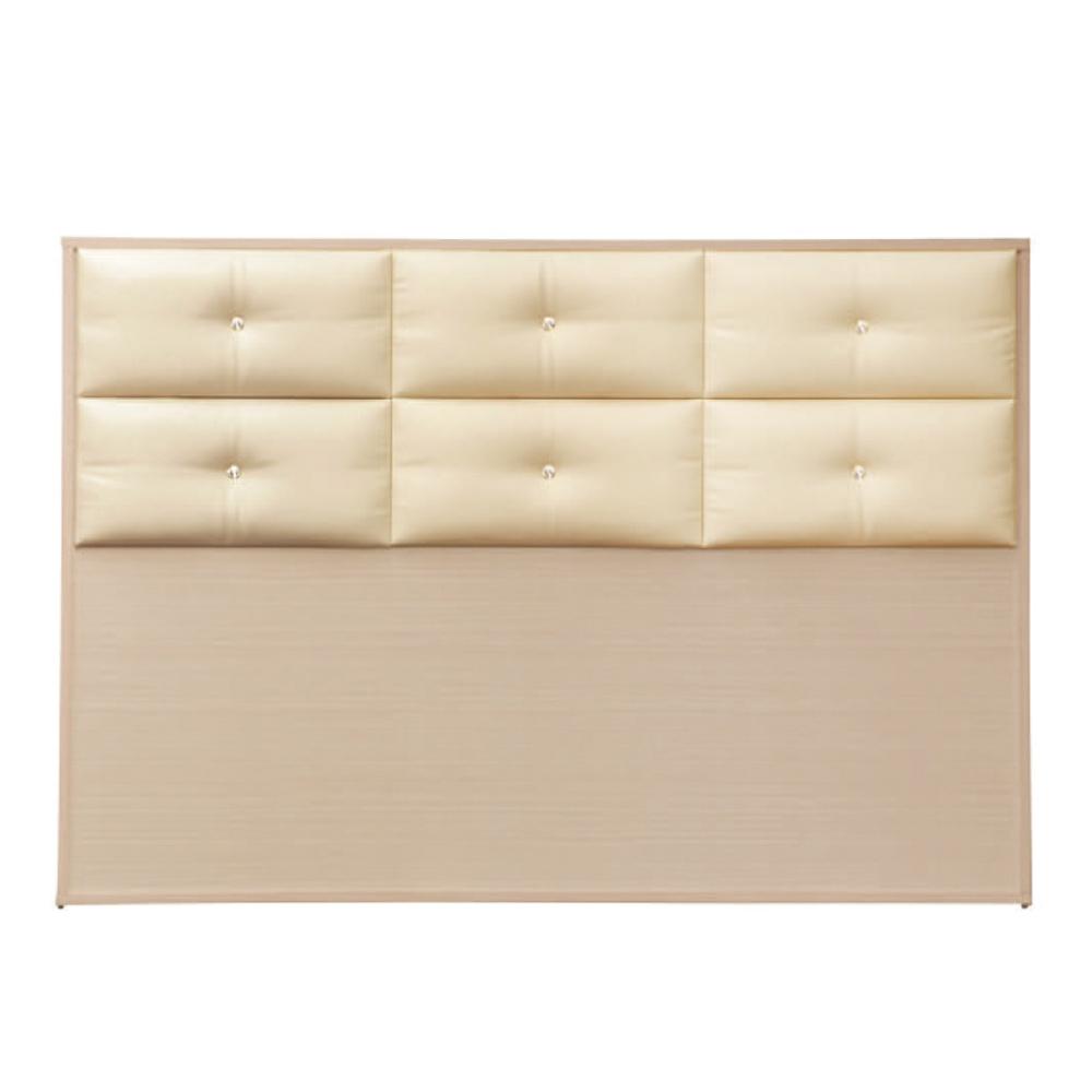 綠活居 蘇雷斯時尚5尺皮革雙人洗白床頭片-152x5x104cm免組