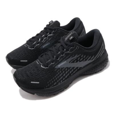 Brooks 慢跑鞋 Ghost 13 Wide 寬楦 女鞋 路跑 緩震 DNA科技 透氣 球鞋 全黑 1203381D072