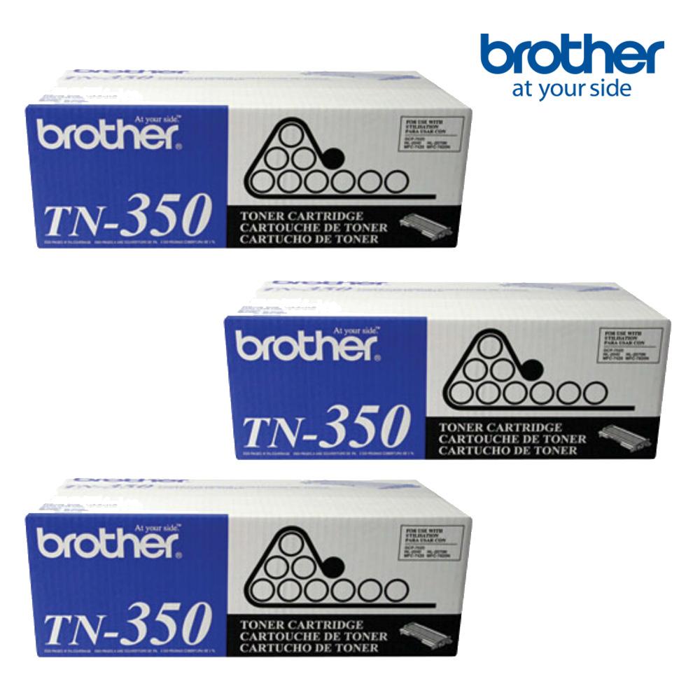 ★3入超值組★Brother TN-350 原廠黑色碳粉匣