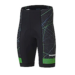 【SHIMANO】TEAM 自行車褲 黑/綠