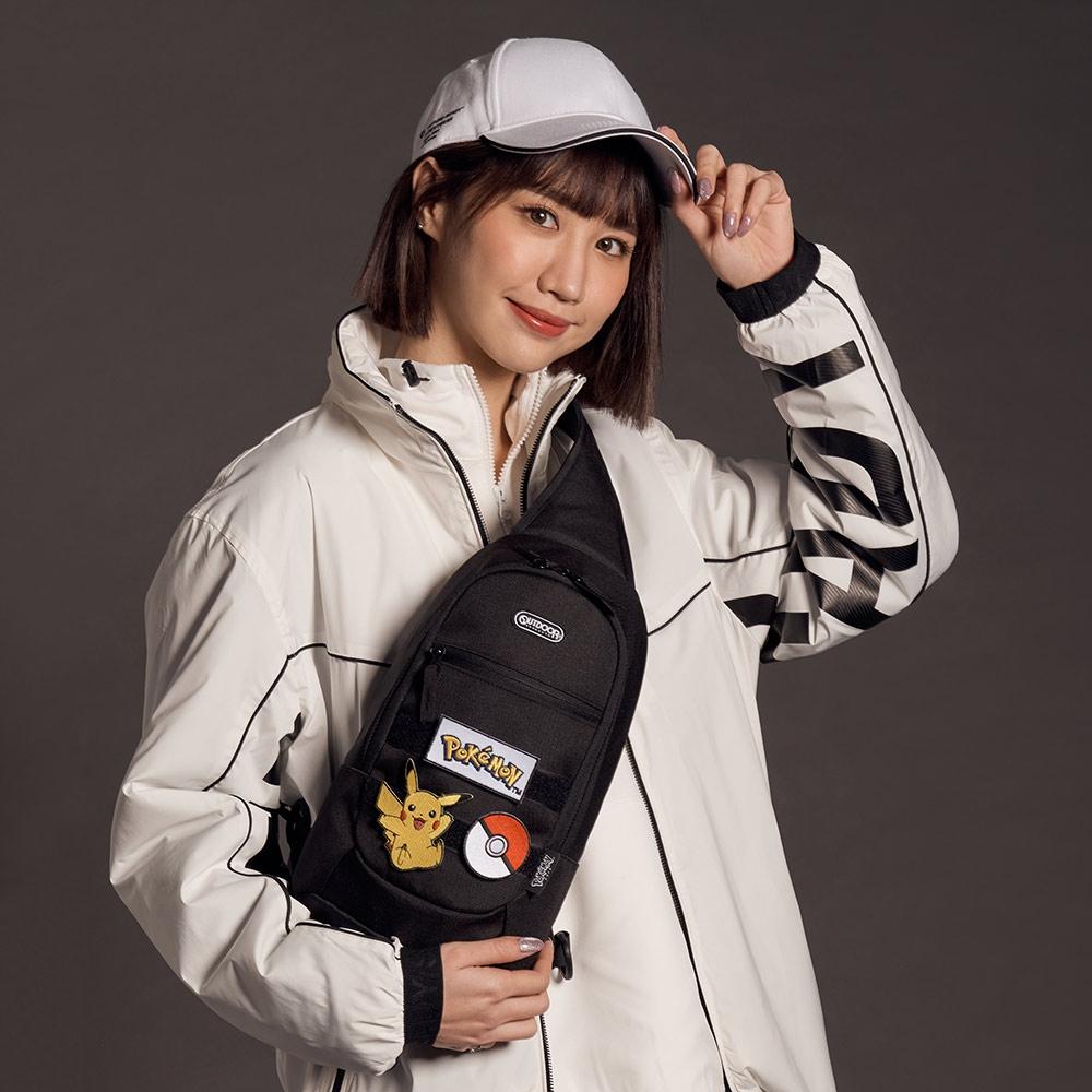【OUTDOOR】Pokemon聯名款訓練家系列單肩包-黑色 ODGO20C06BK