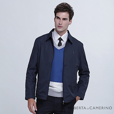 ROBERTA諾貝達 商務型男 簡約百搭 夾克外套  深藍